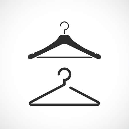 Hanger silhouette vector icon isolated on white background Vetores