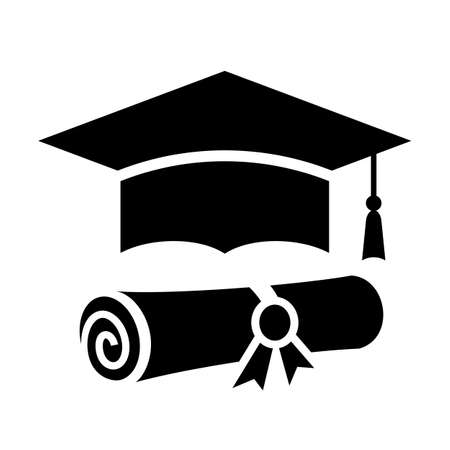 Abstract education vector icon isolated on white background