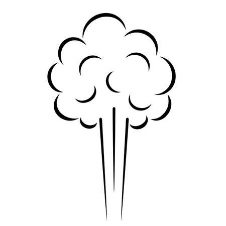 Icona di vettore di nuvola di vapore isolato su sfondo bianco