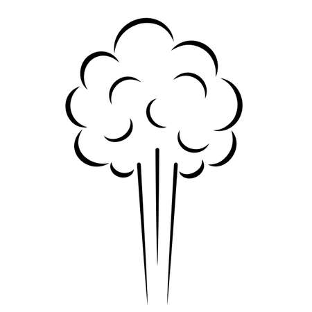 Steam cloud vector icon isolated on white background Ilustracja
