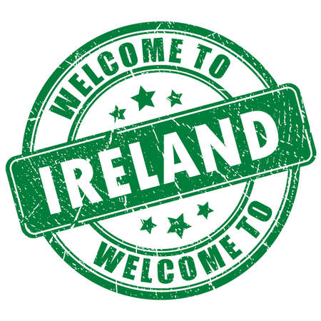 Welcome to Ireland vector stamp isolated on white background
