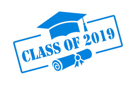 Class of 2019 vector sign isolated on white background