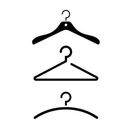 Hanger vector icon isolated on white background