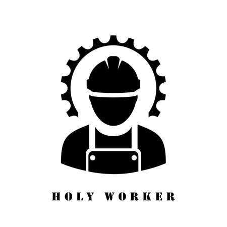 Holy worker fun vector icon