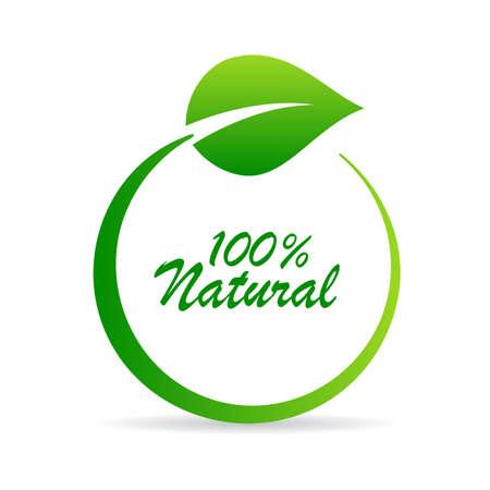 Natürliches Vektorsymbol des Blattkreises lokalisiert auf weißem Hintergrund