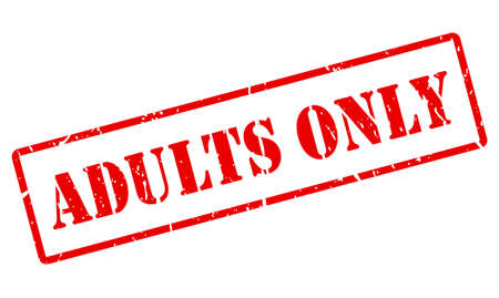 Adults only red vector stamp isolated on white background