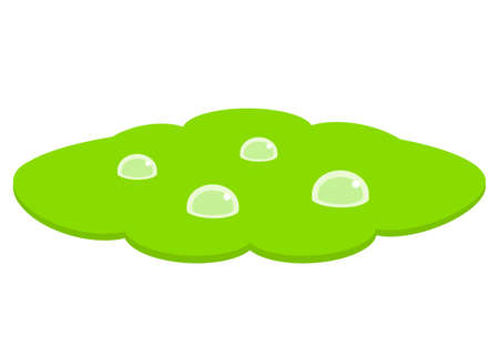 Green puddle vector icon isolated on white background Illusztráció