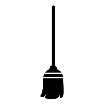 Broom vector icon isolated on white background