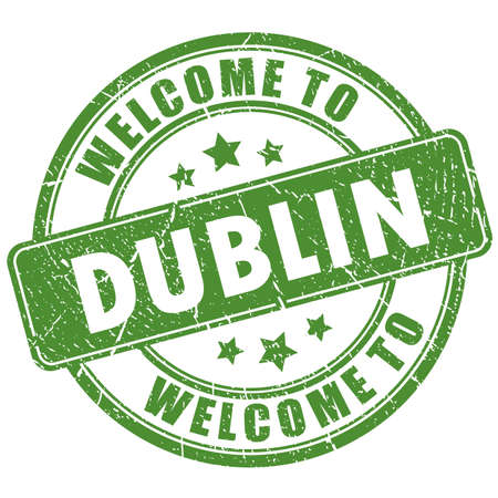 Welcome to Dublin grunge stamp on white background Ilustração