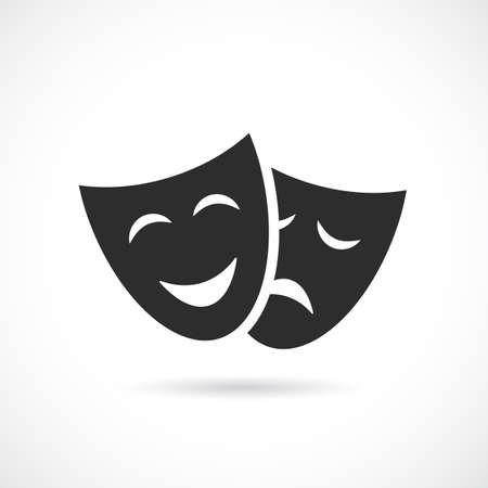 Icono de vector de mascarada aislado sobre fondo blanco
