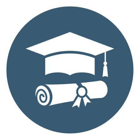 Graduaton vector symbol isolated on white background