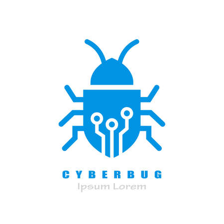 Cyber bug vector  isolated on white background