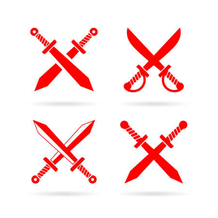 Fight vector icon set isolated on white background