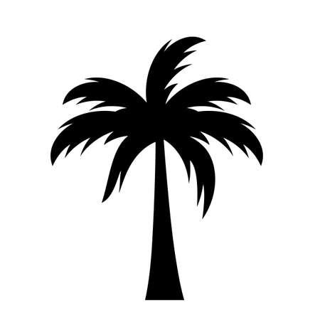 Palm silhouette vector icon on white background