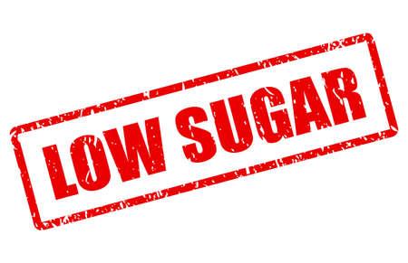 Timbre de vecteur de faible teneur en sucre isolé sur fond blanc