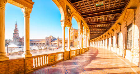 Plaza de Espana (Spanish Square) in Seville, Spain