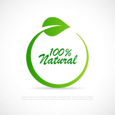 100 natürlicher Vektor isoliert auf weißem Hintergrund Vektorgrafik