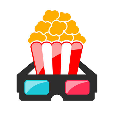 Cinema movie vector icon isolated on white background