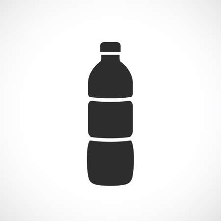 Plastic bottle icon on white background