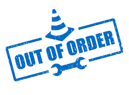 Out of order vector sign isolated on white background