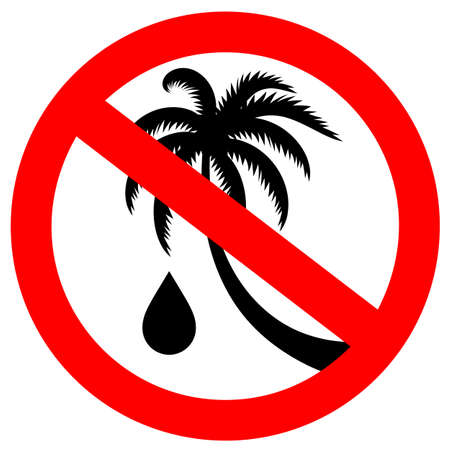 No palm oil vector sign on white background