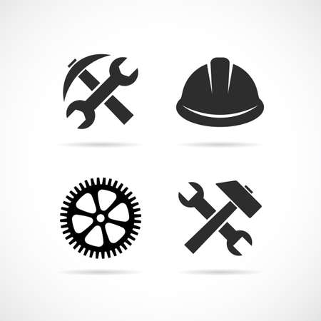 Technology abstract vector icon isolated on white background Ilustracja