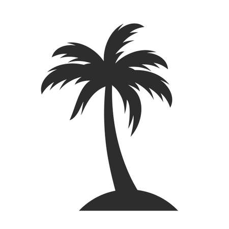 Palm vector icon on white background Ilustracja