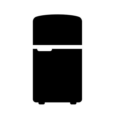 Fridge vector icon isolated on white background