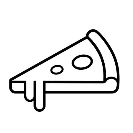 Pizza line vector icon isolated on white background