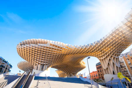 SEVILLA, SPAIN – 14 March, 2019: Metropol Parasol (Seville Mushrooms) photo