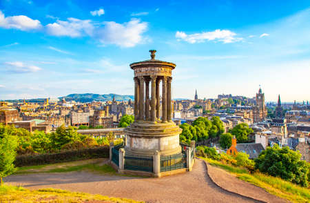 Calton Hill and Edinburgh city view, Scotland Publikacyjne