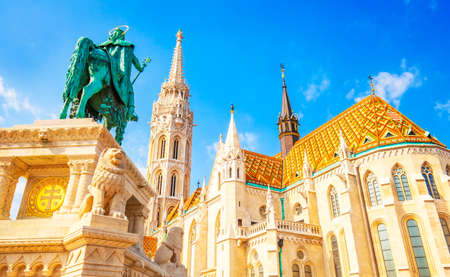 Buda castle and St Matthias Church in Budapest, Hungary