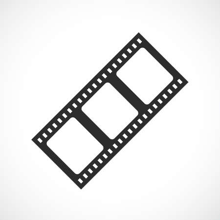 Vintage film strip vector icon isolated on white background