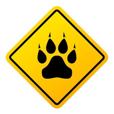 Danger animals vector sign isolated on white background Çizim