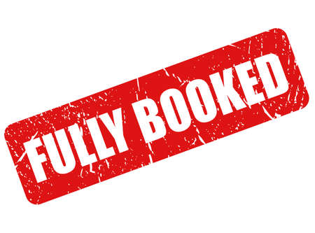 Fully booked vector grunge stamp on white background