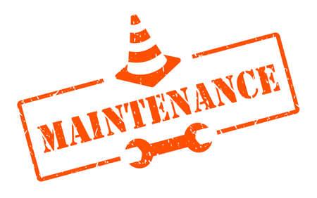 Maintenance vector sign isolated on white background Stock Illustratie