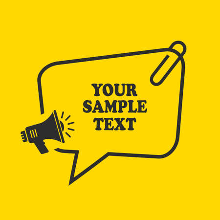 Text box template for your sample text, vector illustration Reklamní fotografie - 130609054