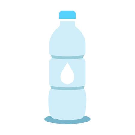Water bottle vector cartoon on white background Illustration