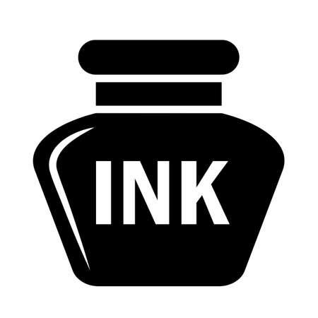 Ink pot vector icon on white background Foto de archivo - 130609125