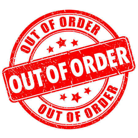 Out of order vector stamp isolated on white background Ilustração