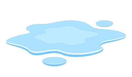 Water spill vector illustration isolated on white background