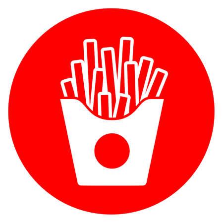 Fried potatoes vector icon isolated on white background Ilustração