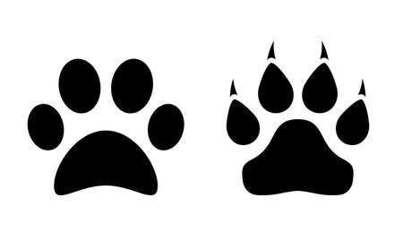 Animal paw vector icon on white background Çizim