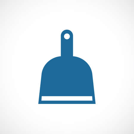 Dustpan vector icon isolated on white background