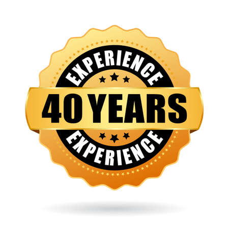 40 ans d'expérience icône vecteur isolé sur fond blanc Vecteurs