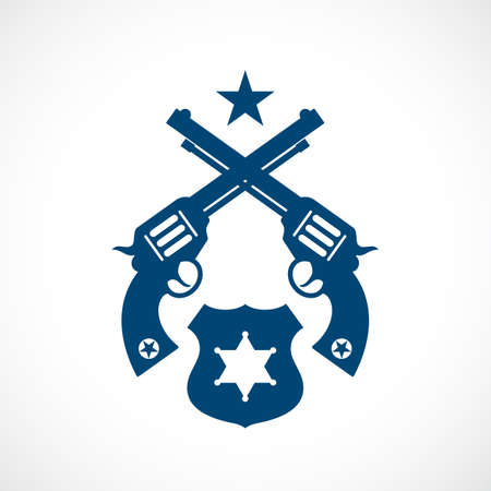 Law and authority vintage vector icon isolated on white background Illustration