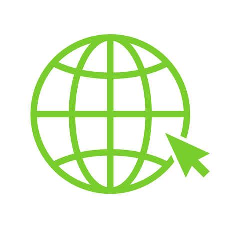 Globe vector icon isolated on white background Illustration
