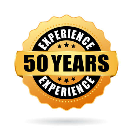 Anniversary 50 years experience vector icon isolated on white background