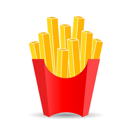 French fries vector cartoon isolated on white background