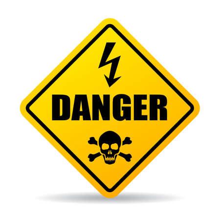 Danger caution sign vector illustration on white background